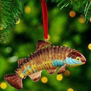 Trimsetter Cloisonn Collection Fish Ornament Set
